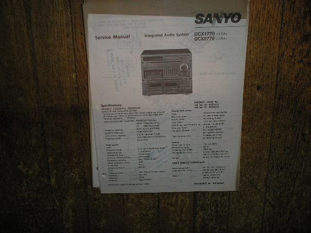 DCX1770 DCX2770 Stereo System Service Manual