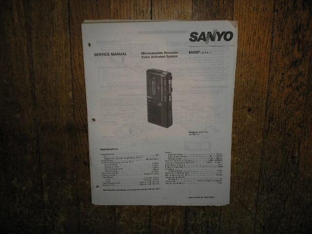 M5597 Micro-Cassette Recorder Service Manual