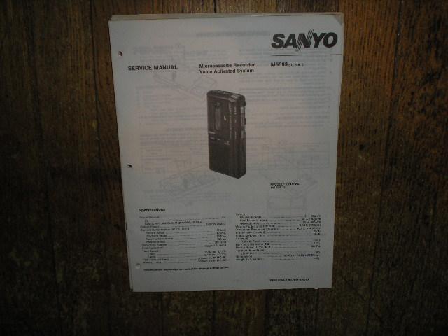 M5599 Micro-Cassette Recorder Service Manual