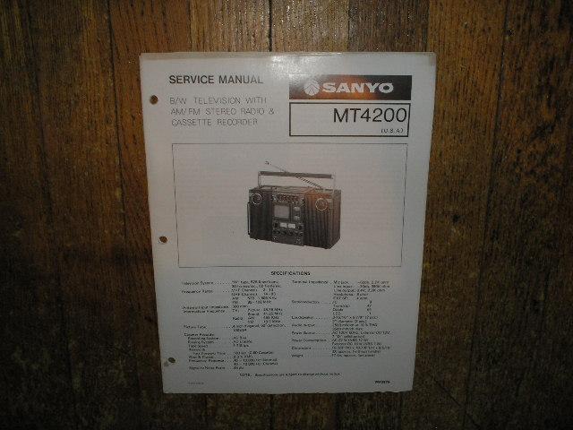 MT4200 TV Radio Cassette Recorder Service Manual