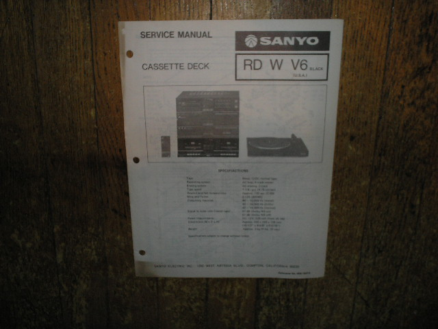 RDWV6 Cassette Deck Service Manual
