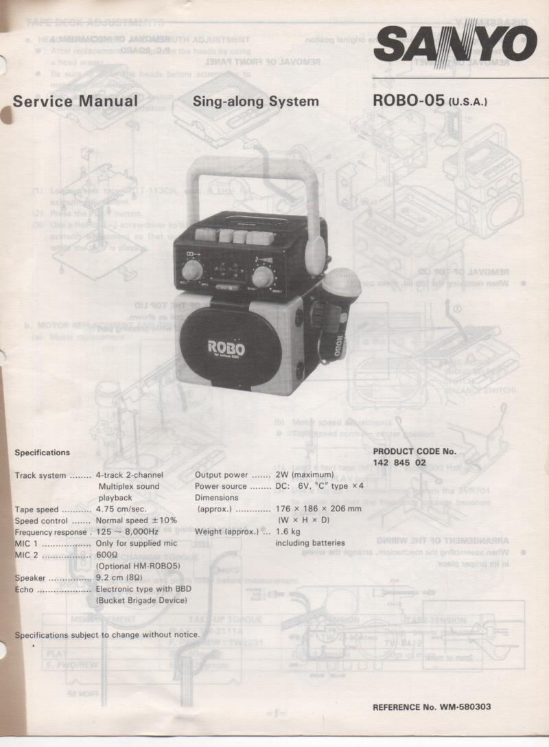 ROBO-05 Sing-along System Service Manual
