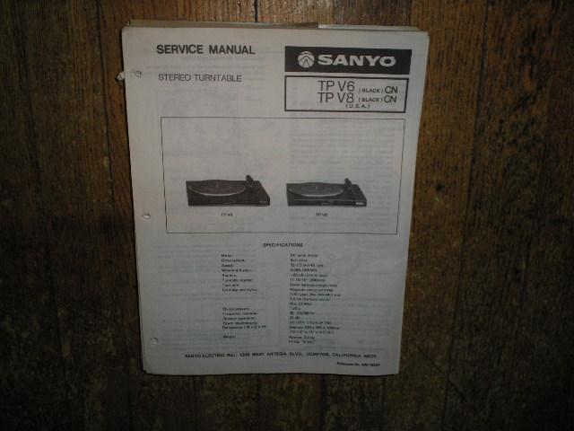 TPV6 TPV8 Turntable Service Manual