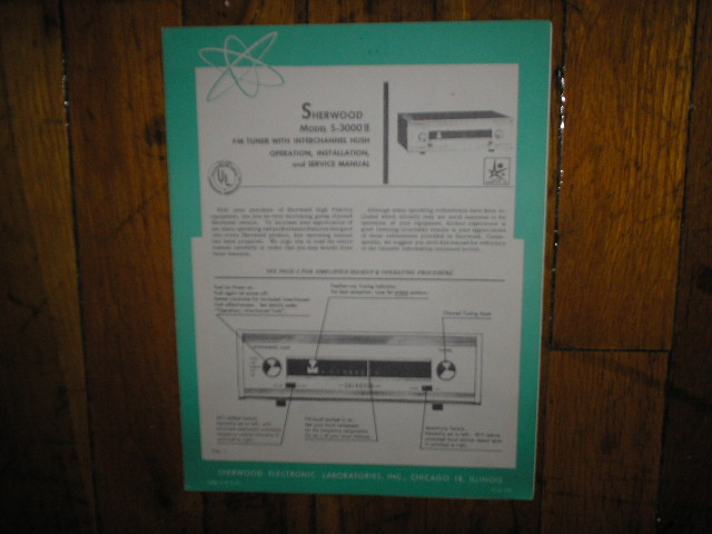 S-3000 II Service Manual 3 for Serial No. 9,311,000 and up. Tubes in this unit are 12az7a 3 6au6
