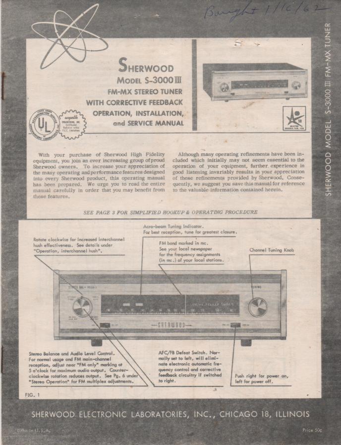 S-5500 II Amplifier Service Manual