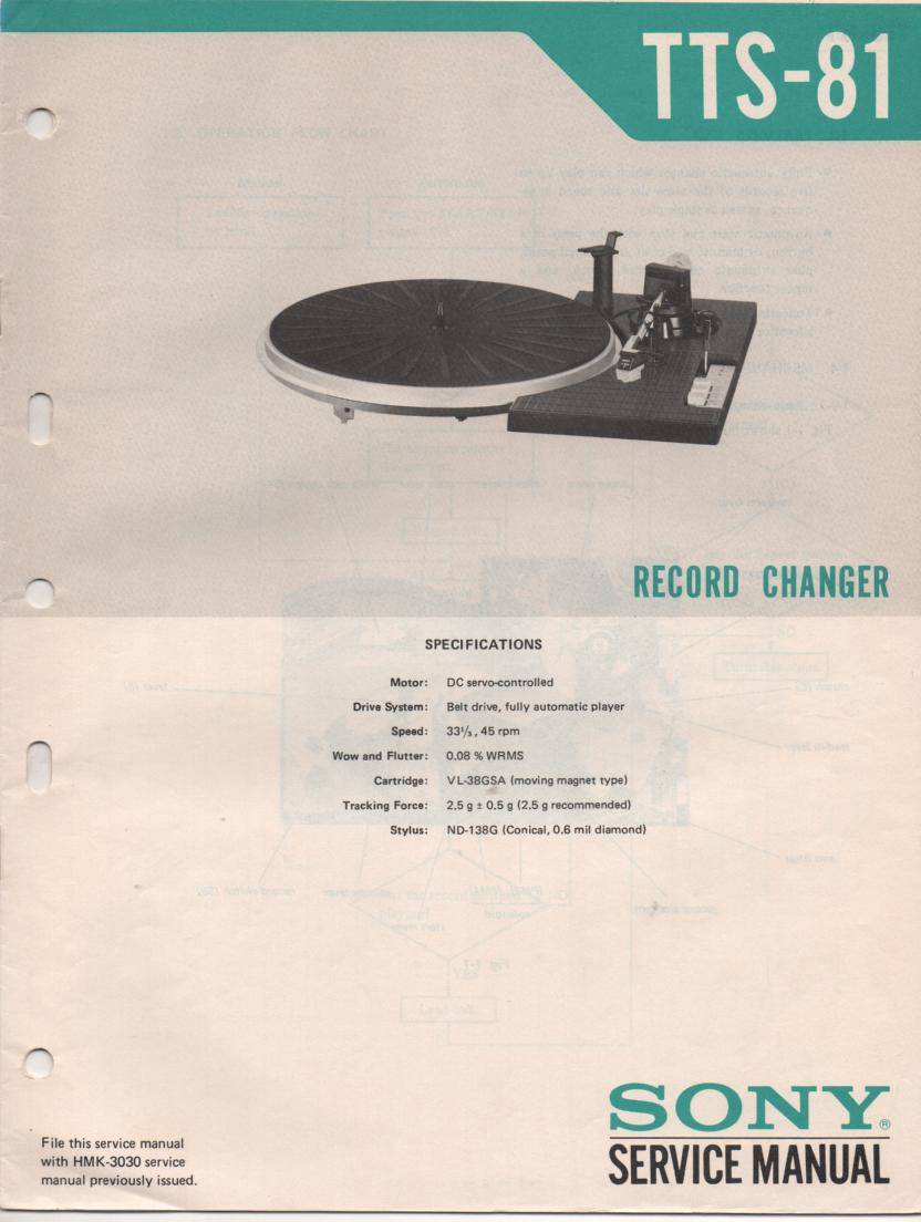 TTS-81 Turntable Service Manual