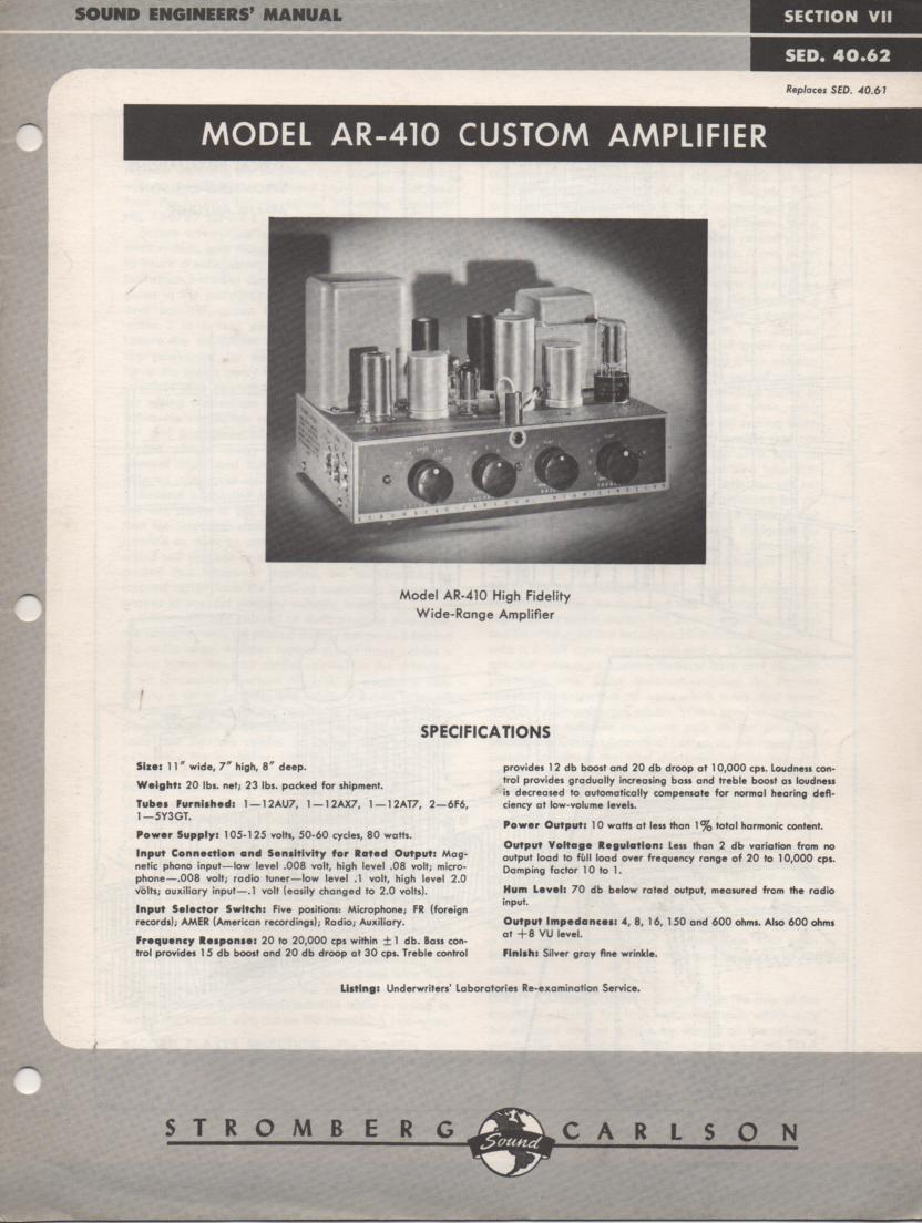 AR-410 Amplifier Service Manual