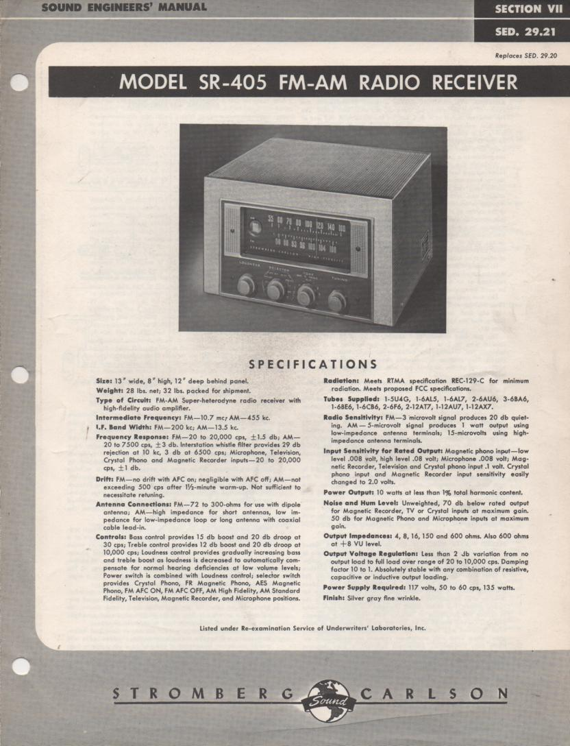 SR-405 AM FM Tuner Service Manual