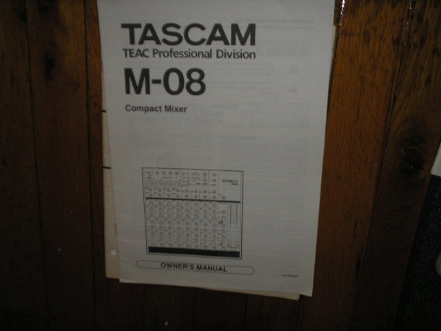 M-08 Compact Mixer Owners Manual