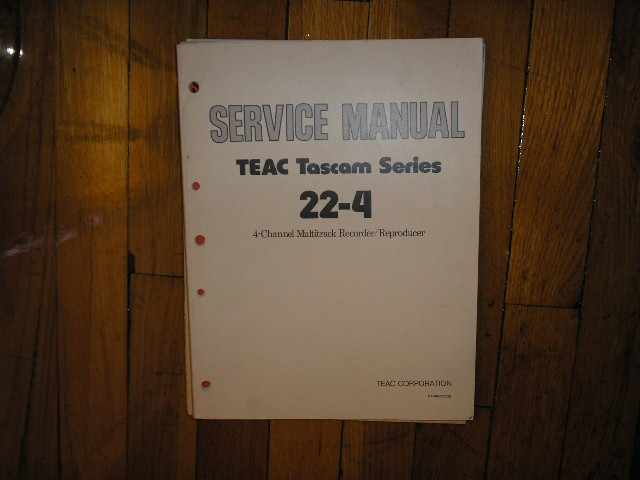 22-4  Reel to Reel Service Manual  TASCAM