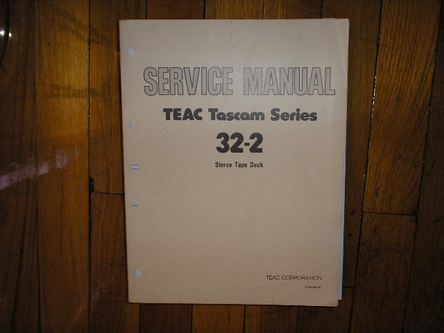 32-2  Reel to Reel Service Manual  TASCAM