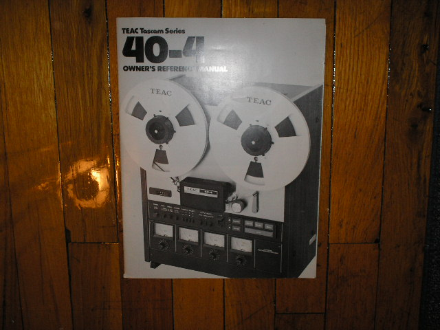 40-4 Reel to Reel Owners Manual  TASCAM