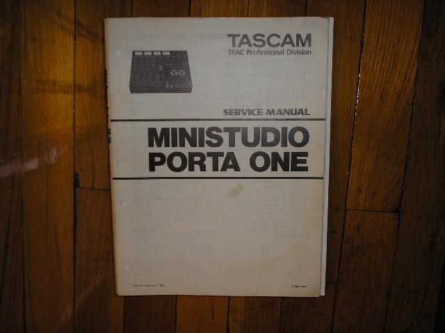 PORTA ONE Ministudio Service Manual