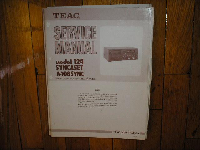 124 A-108 Cassette Deck Service Manual