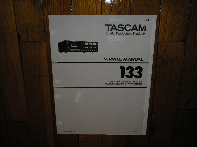 133 Cassette Deck Service Manual