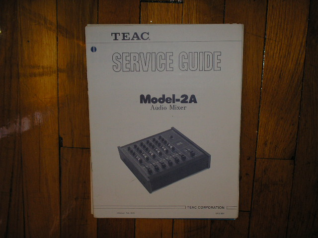 2A Model 2A Audio Mixer Service Manual