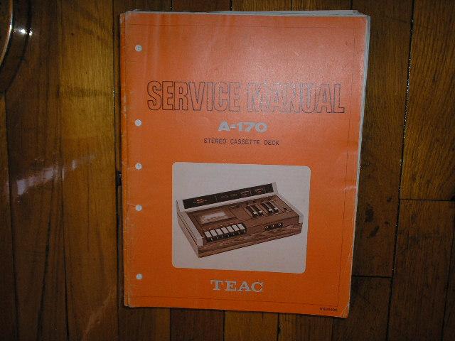 A-170 Cassette Deck Service Manual