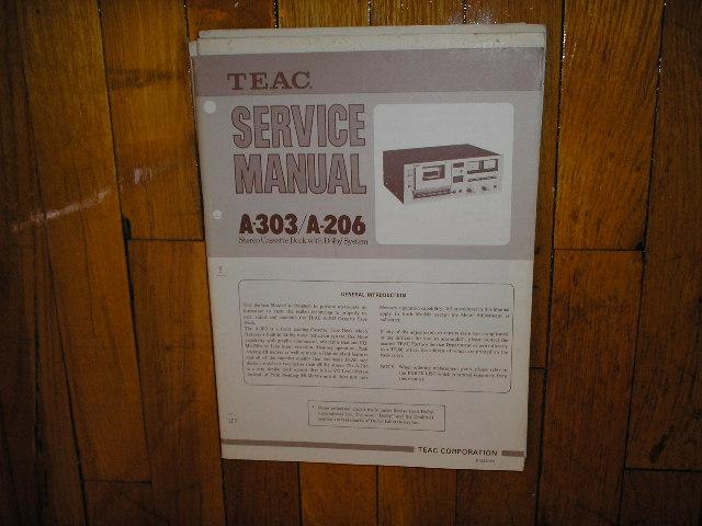 A-206 A-303 Cassette Deck Service Manual