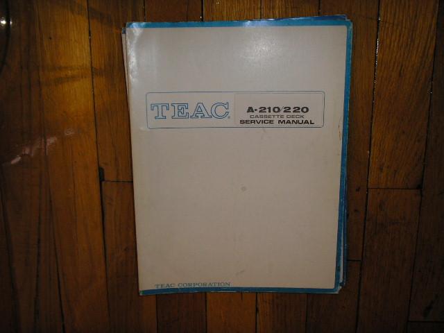 A-210 A-220 A-280 Cassette Deck Service Manual