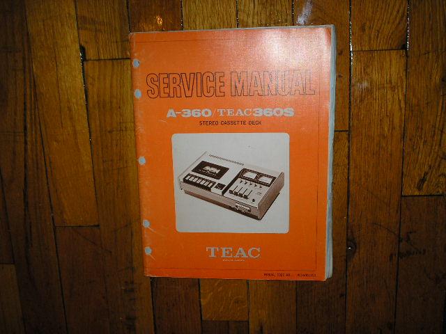 A-360 A-360S Cassette Deck Service Manual