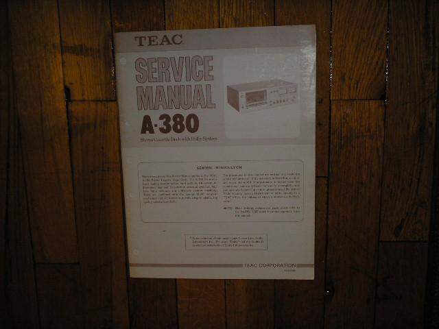 A-380 Cassette Deck Service Manual