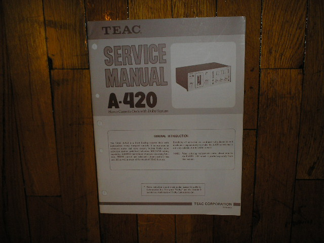 A-420 Cassette Deck Service Manual