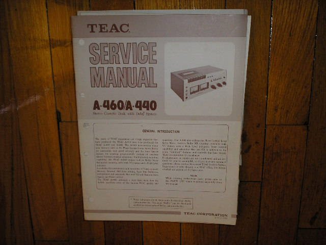 A-440 A-460 Cassette Deck Service Manual