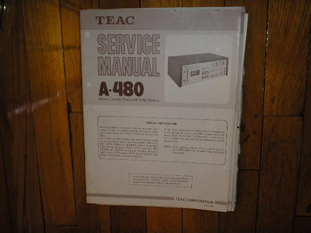 A-480 Cassette Deck Service Manual