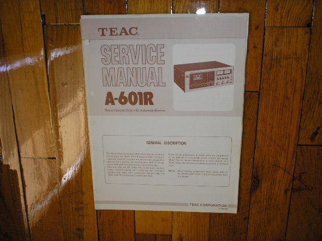 A-601R Cassette Deck Service Manual