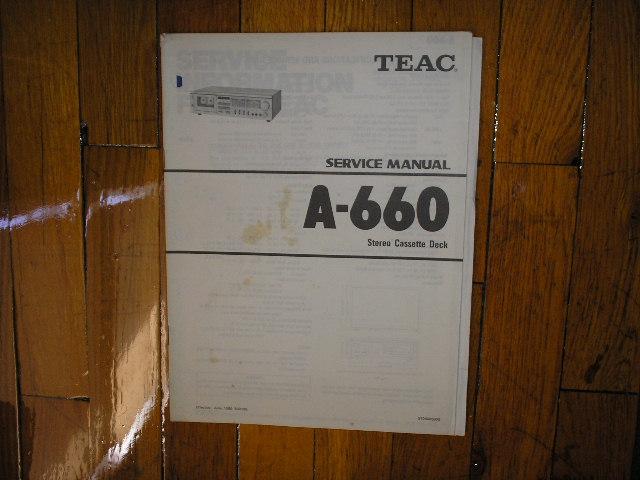 A-660 Cassette Deck Service Manual