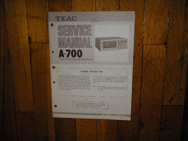 A-700 Cassette Deck Service Manual