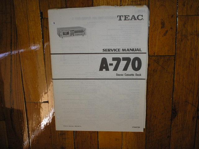 A-770 Cassette Deck Service Manual