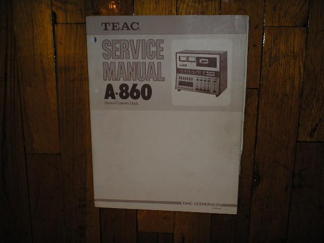 A-860 Cassette Deck Service Manual