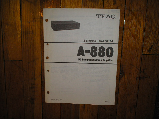 A-880 Amplifier Service Manual