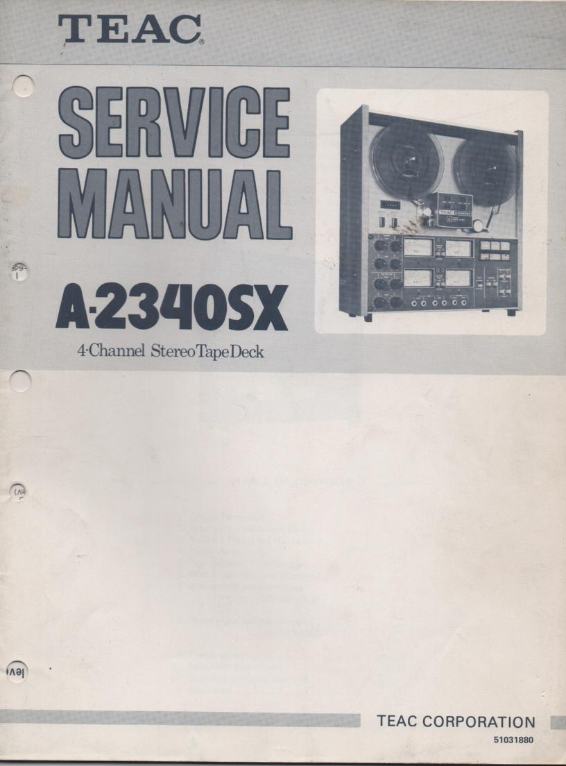 A-2340SX Reel to Reel Service Manual  TEAC