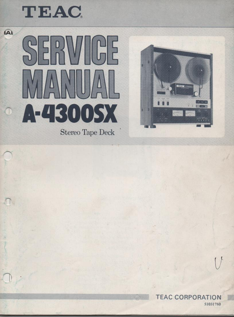 A-4300SX Reel to Reel Service Manual  TEAC