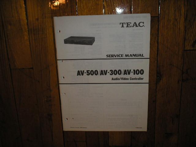 AV-100 AV-300 AV-500 A/V Controller Service Manual
