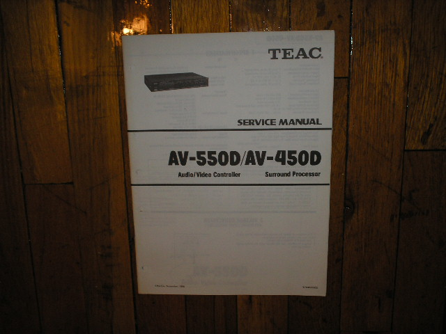 AV-450D AV-550D A/V Controller Service Manual