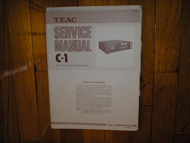C-1 Cassette Deck Service Manual. 3 Manuals