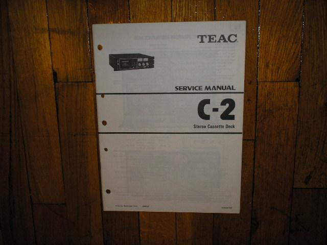 C-2 Cassette Deck Service Manual