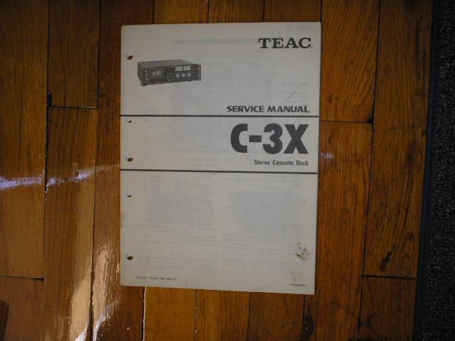 C-3X Cassette Deck Service Manual