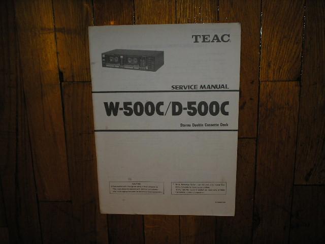 D-500C W-500C Cassette Deck Service Manual