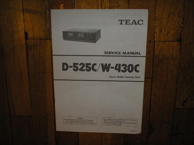D-525C W-430C Cassette Deck Service Manual