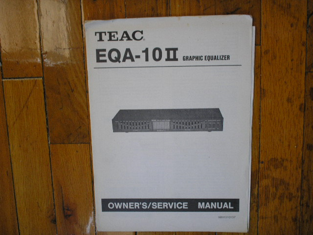 EQA-10 II Graphic Equalizer Service Manual