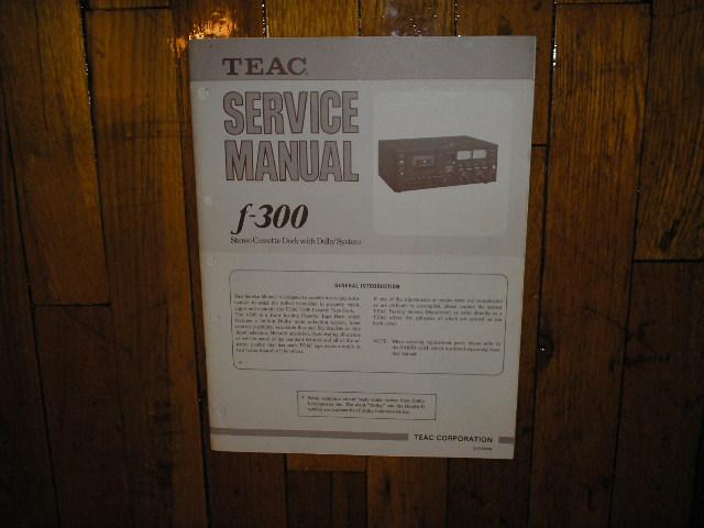 F-300 Cassette Deck Service Manual