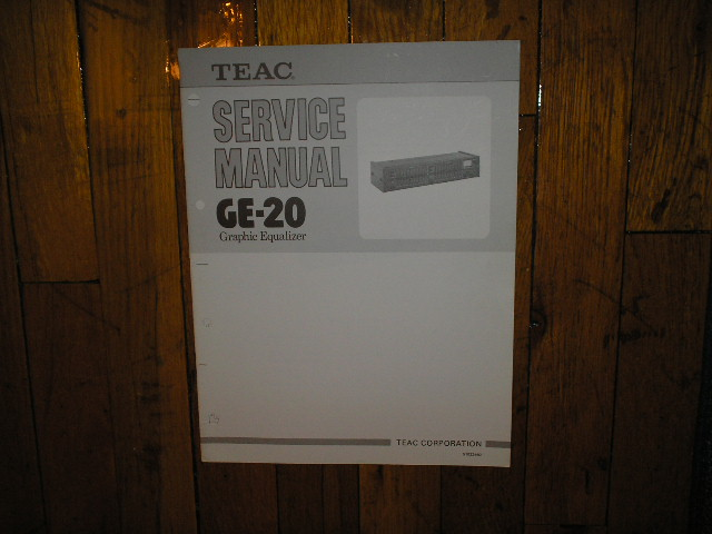 GE-20 Graphic Equalizer Service Manual