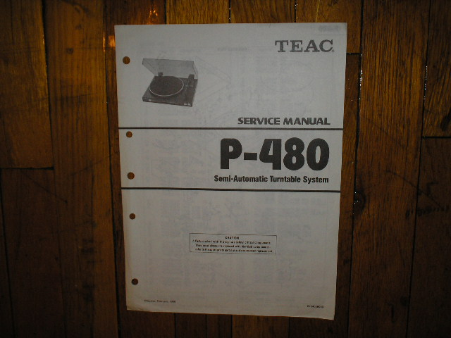 P-480 Turntable Service Manual