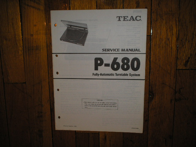 P-680 Turntable Service Manual