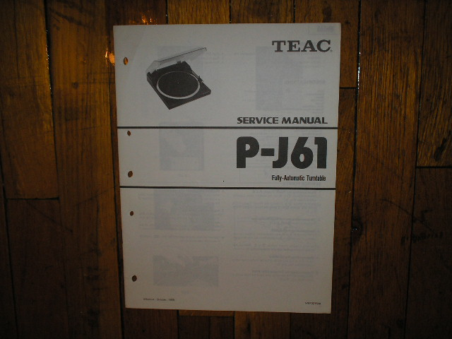 P-J61 Turntable Service Manual