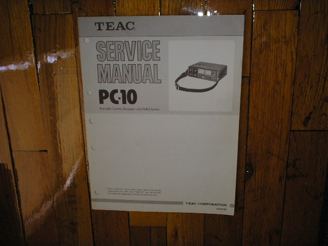 PC-10 Cassette Deck Service Manual